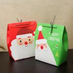 Original Рождественский подарок чулок подарок Коробка Симпатичные Санта украшения конфеты Коробка чулок Рождественский подарок Сумки