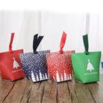 Original Рождество 12 шт бумажный подарок Коробка конфеты Коробка ювелирные изделия упаковка Коробка чулок рождественский подарок Сумки