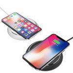 Оригинал Rock W5 Модная беспроводная быстрая зарядная подушка для зарядки для iphone X 8 / 8Plus Samsung S8 S7 S6