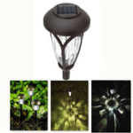 Оригинал Солнечная Powered Super Bright На открытом воздухе Светло-белый LED Газон Сад Пейзаж Лампа для Walkway Driveway P
