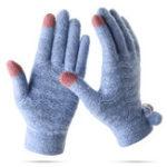 Оригинал Женское Plus Cashmere Full Fingers Перчатки На открытом воздухе Веревочка с горячим сенсорным экраном вязаная Перчатки