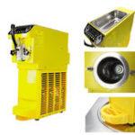 Оригинал AC 110 / 220V Small Ice Cream Maker Желтая коммерческая машина для сорбетов с хладагентом