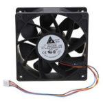 Оригинал 6000 об / мин Замена охлаждающего вентилятора 4-контактный Коннектор Для Antminer Bitmain S7 S9 Черный
