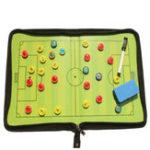 Оригинал Магнитная тренировка Футбольная футболка Tactic Board Folder Leather Portable