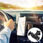 Оригинал Универсальное 360-градусное вращение Авто Держатель для воздуховодов Держатель для настольного компьютера с держателем для батареи iPhone 8 Sam