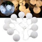 Оригинал Батарея Powered 1.2M 10LEDs Теплый белый Чистый белый Снежок Фея String Light для Рождества Патио