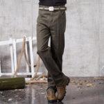 Оригинал Mens Business Casual Брюки Хлопок Прямые брюки Plus Размер Брюки Homme Suit Брюки