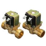 Оригинал 220В нормально замкнутый 2-проводной электромагнитный электромагнитный клапан для воздушного водяного клапана