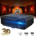 Оригинал SV-226 Полный HD 1080P LED Видео Проектор Кинотеатр домашнего кинотеатра SD TV / USB / VGA / ПК