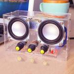Оригинал Маленький Усилитель двухканальный громкоговоритель Audio Набор TDA2030 Mini Electronic DIY Сборка деталей для производства