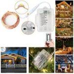 Оригинал Батарея USB Powered 5M 10M 8Modes Медь Провод Fairy String Light С Дистанционное Управление для Рождества