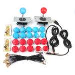 Оригинал 2 Player Arcade Набор USB Encoder To PC Джойстик 20 Кнопки Для MAME Controller