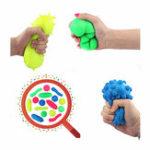 Оригинал Squishy Bacteria Stress Balls Reliever Fun Подарочный стресс Вирусная модельная игрушка