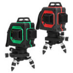 Оригинал 12 линий 3D Лазер Уровень 360 Вращающиеся корсы Красный / Зеленый Лазерная линия Измерение Набор