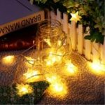 Оригинал Батарея Powered 3M 20LEDs Warm White Star Shaped Fairy String Light для Рождества Патио
