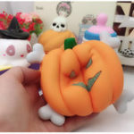 Оригинал Pumpkin Scented Squishy Slow Rising Squeeze Strap Kids Toy Gift Оригинальная упаковка