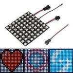 Оригинал  8 * 8CM 64 бит WS2812 5050 Matrix LED Плата полного цвета RGB для Arduino