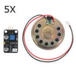 Оригинал Модуль громкоговорителей 5Pcs Мощность Усилитель Модуль музыкального проигрывателя Электронные строительные блоки для Arduino