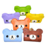 Оригинал Squishy Bear Wallet Cake Jumbo 15 см Sweet Slow Rising With Ball Chain Tag Collection Подарочная игрушка для подарков