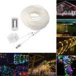 Оригинал ARILUX®5M 10M Батарея Питание от порта USB 8Modes LED Веревка Fairy String Light с Дистанционный для рождественского патио