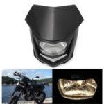 Оригинал 12V 8000lm мотоцикл Головка Лампа Вт / High Low Beam Enduro Dirt Bike Headlight Universal