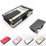 Оригинал RFIDБлокировкаметаллическийкошелекТонкийМинималистский держатель кредитной карты Деньги клип