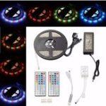 Оригинал 5M 3528 SMD 300LED RGB Водонепроницаемы Strip Light + 44 ключа Дистанционное Управление UK Plug DC12V