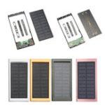Оригинал 10000mAh Портативный Солнечная Power Bank Dual USB Fast Charger DIY Чехол для мобильного телефона