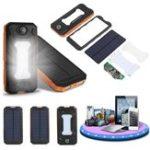 Оригинал Cewaal Водонепроницаемы LED Двойной USB Солнечная Панельный блок питания Чехол Батарея Зарядное устройство DIY Набор Комплект