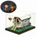 Оригинал iie создать 130-20F Путешествия Приключения с мебельной лампой Пылезащитная DIY Dollhouse Collection Gift