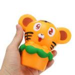 Оригинал Squishy Tiger 13cm Soft Медленный рост 10s Коллекция Подарочный Декор Сожмите Игрушку Ослабителя Стресса
