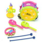 Оригинал 5Pcs Kids Baby Roll Drum Музыкальные инструменты Стандарты Набор Набор детских игрушек для детей