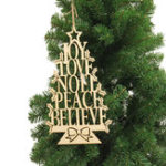 Оригинал Christmas Party Home Decoration English Alphabet Tree Hanging Ornament Toys For Kids Children Gift