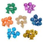 Оригинал 49шт 7 цветов Многосторонняя игра Ролевая игра Polyhedral Digital Acrylic Кости Набор с Сумки