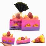 Оригинал Kiibru Squishy Клубничный торт Jumbo 15см Медленный рост Оригинальная упаковка Коллекция подарков Декор Игрушка