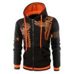 Оригинал Мода 3D напечатанные вышивки Hoodies Зимние мужские повседневные зип вверх Спортивные толстовки Топы