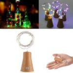 Оригинал Солнечная Powered 10LEDs Cork Shaped Silver Провод Винная бутылка Fairy String Light для рождественской вечеринки