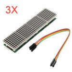 Оригинал 3Pcs MAX7219 Точечный матричный модуль 4-в-1 Дисплей Для Arduino