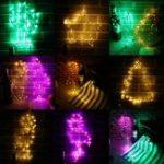 Оригинал Батарея Powered Iron Star Рождественская елка Flamingo Медь Провод Fairy String Light