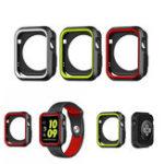 Оригинал Спортивные двойные цвета Силиконовый Защитная крышка Чехол для Apple Watch iWatch 38/42 мм