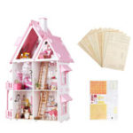 Оригинал Iiecreate Large Wooden Kids Кукла House Barbie Набор Girls Play Куклаhouse Особняк