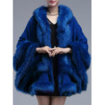 Оригинал Elegant Женское Faux Fur Stitching Loose Knitting Coats