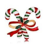 Оригинал MloveAcc Рождественские двойные костыли Брошь штыри Красочные эмалевые броши Подарки для Женское Kids Party Fashion Jewelry