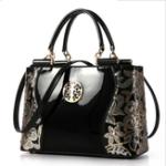 Оригинал ЖенскоеЛакированнаякожароскошнаяЕвропаМодная вышивка Sequined Chains Handbag
