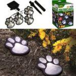 Оригинал Солнечная Powered Pure White 4 Собака Animal Paw Печать На открытом воздухе LED Fairy String Lights для Сад