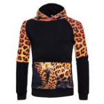 Оригинал Hem head Side 3D Printing Sweater Модные повседневные Leopard Hoodies