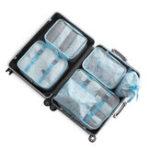 Original KCASA 6Pcs Spring Travel Storage Сумки Set Portable Tidy Чемодан Органайзер Упаковка для одежды Home Closet Divider Container Сумка Водонепроницаемы Хранение Чехол