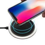 Оригинал FLOVEME 10W Qi Беспроводное зарядное устройство с Светодиодный для iPhoneX 8Plus Samsung S8 S7 Edge Note 8