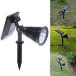 Оригинал Солнечная Powered 7 LED Spot Light Водонепроницаемы IP65 На открытом воздухе Сад Ландшафтное оформление лужайки