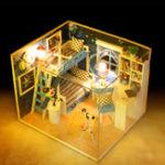 Оригинал iie создать Q-005 Мечта о Sky DIY Кукольный дом с мебельной мебелью